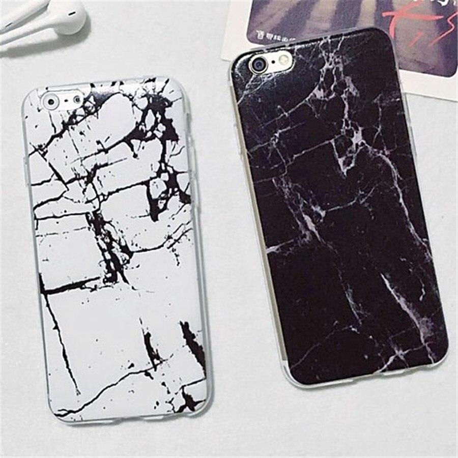 Caixa Do Telefone para o iphone 6 6 s além de mármore 5 5S SE suave Coque Silicone Protetora shell Capa Ultra Fina para o iphone 6 s Plus Capa coque