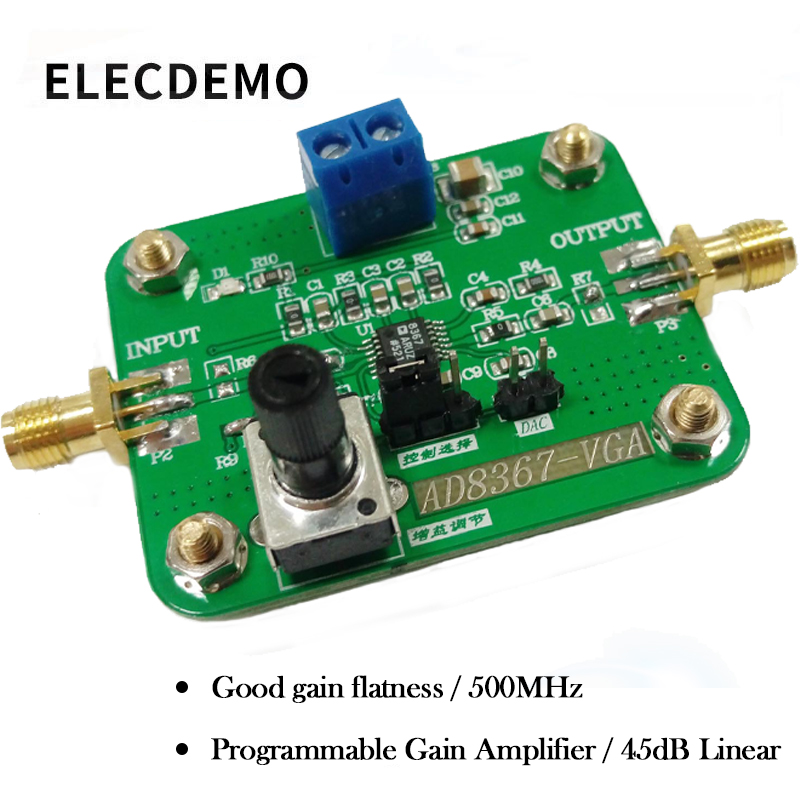 AD8367 Module Authentic Guarantee 500MHz 45dB Linear Variable Gain Amplifier function demo board-in Demo Board Accessories from Computer & Office