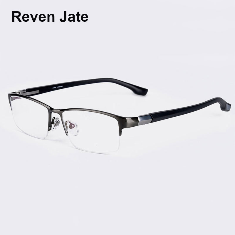 Reven Jate EJ366 Fashion Men Eyeglasses Frame Ultra Light weighted Flexible IP Electronic Plating Metal Material