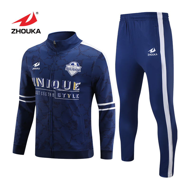 Sincere Custom Printing Logo Sportswear White And Black Tracksuit With Grey Stripes Jacket And To Have A Long Life. Team Sports