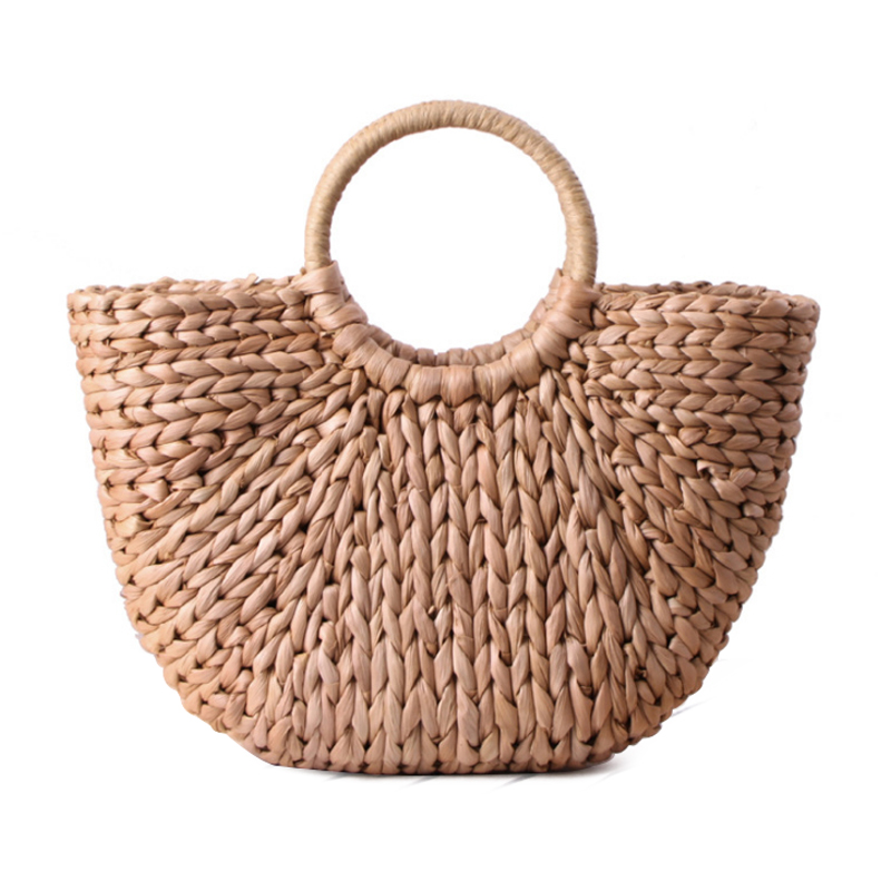 JHD Womens Hand Bag Large Shoulder Tote Bag Bucket Summer Bags Women Tassel Rattan Bag Braided(primary color)