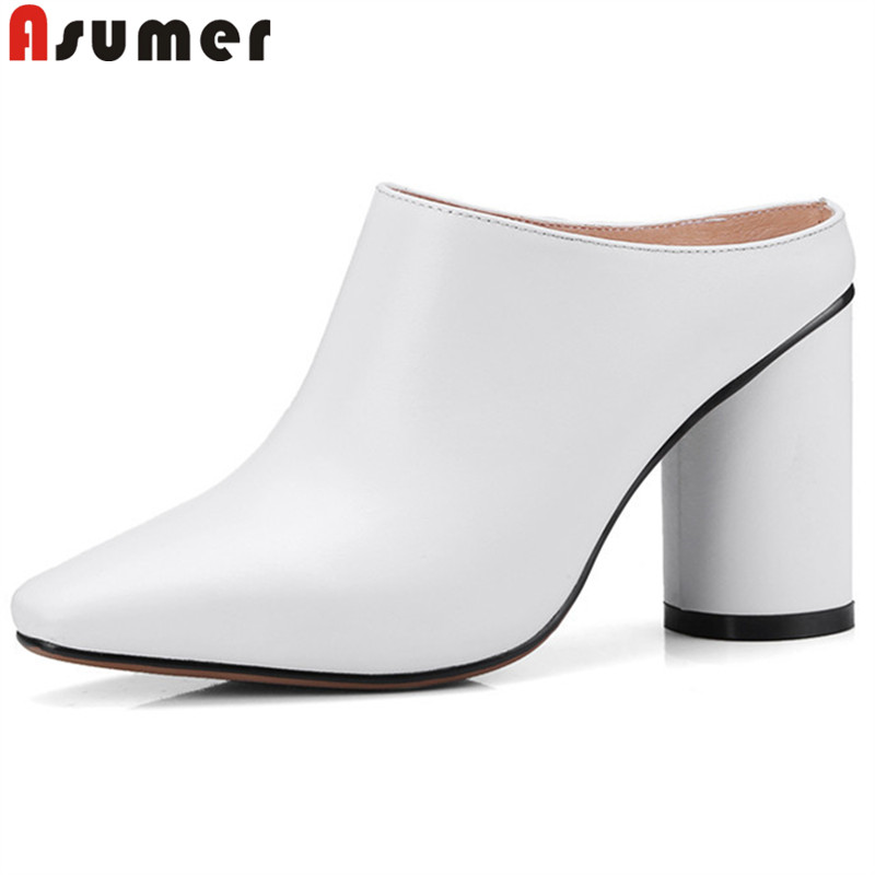 ASUMER 2019 fashion pumps women shoes thick high heels shoes elegant ladies genuine leather shoes woman prom wedding shoes ASUMER 2019 fashion pumps women shoes thick high heels shoes elegant ladies genuine leather shoes woman prom wedding shoes