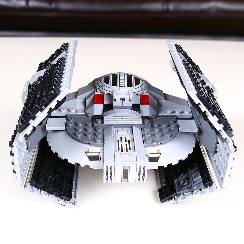 722pcs Lepin 05030 Star Series War Vader Set Tie Advanced VS A toys wing Star fighter Building Blocks Toy gift Compatiable 75150 722pcs lepin 05030 star wars vader tie advanced vs a wing starfighter 75150 building blocks compatible star wars brithday gifts
