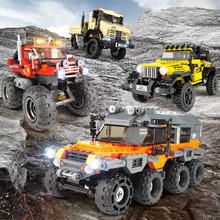 Technic rc The All Terrain Vehicle The Super Truck Offroad Adventure eep off-road suv city vehicle big foot car block bricks toy salzburg зальцбург city pocket the big five
