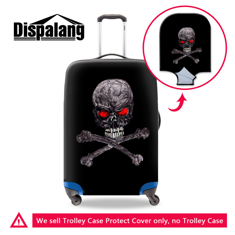 Brand New Elastic Skull Print Waterproof Protective Luggage Cover For 18-30 inch Trolley Suitcase Dust Rain Travel Cover Retial