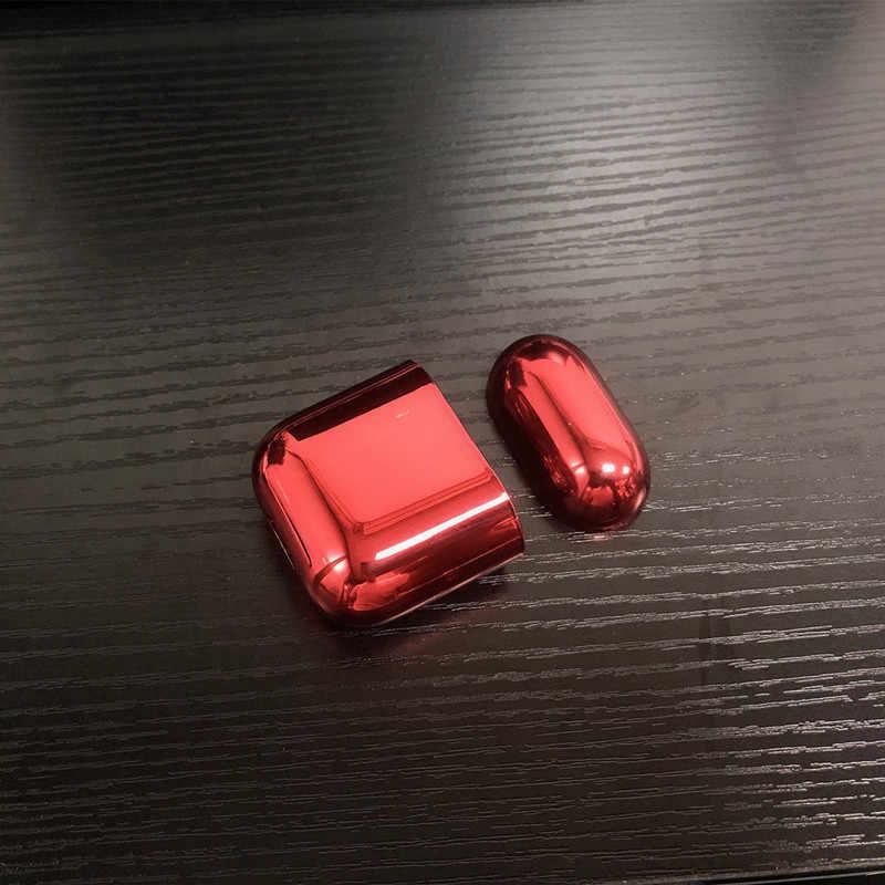 С гальваническим покрытием жесткий корпус наушники оболочка для Airpods Чехол ударопрочный наушник защитный чехол для сумки Зарядка для Airpod Чехол Коробка