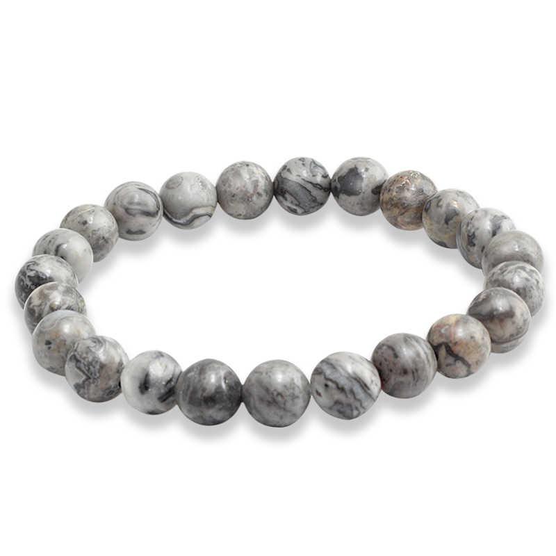 Kamień naturalny bransoletka kobiety mężczyźni urok czarny Lava Lapis Lazuli imitacja Ambers hematyt koralik bransoletki para okrągły łańcuch biżuteria