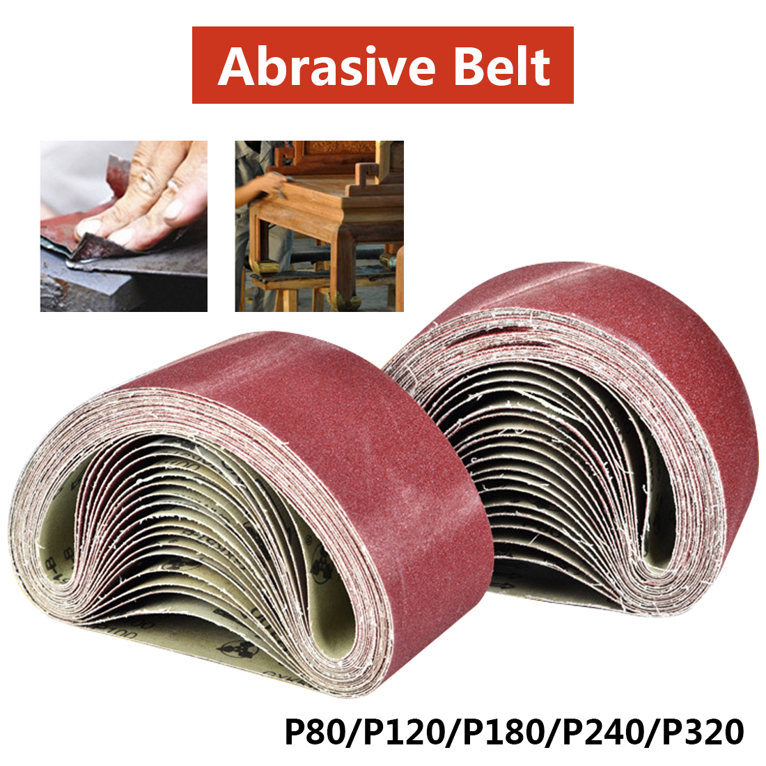 533x75mm Sanding Belts 80-320 Grits Sandpaper Abrasive Bands For Sander Power Rotary Tools Dremel Accessories Abrasive Tool