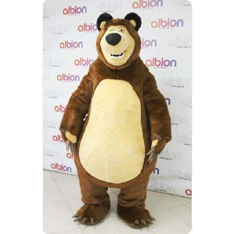 Urso mascote ursa mascote grizzly traje dos desenhos animados personagem cosplay kits mascote traje tema fantasia festa de carnaval
