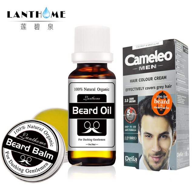 Delia Cameleo Colour Cream Beard & Mustache Grey Hair Dye Cream+ ...