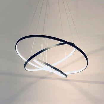 Ringe Moderne LED Anhänger Lichter Für Wohnzimmer Esszimmer ...
