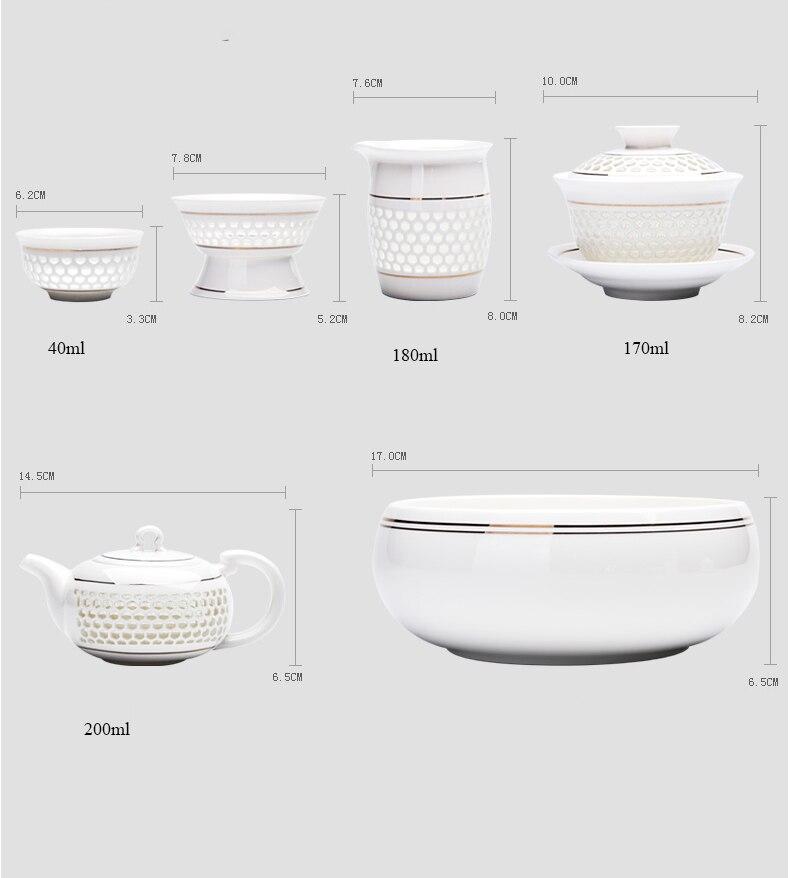 Service à Thé Porcelaine de Chine dimention 3 | OkO-OkO™