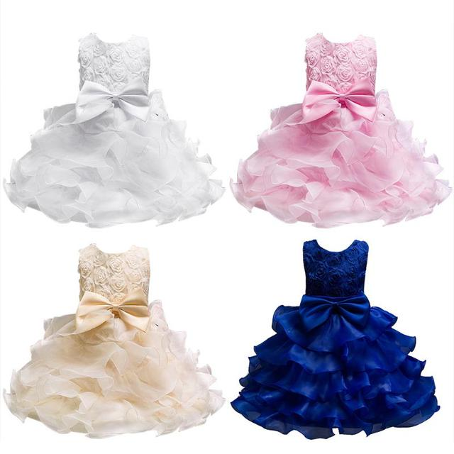 3199a874638 Formal Teenage Girls Wedding Party Dresses Baby Girl Clothes Kids Toddler  Girl Birthday Outfit Costume Children