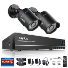 SANNCE HD 4CH CCTV System 1080P HDMI DVR 2PCS 720P 1280TVL CCTV IR Outdoor Video Surveillance Security Cameras 4ch DVR Kit