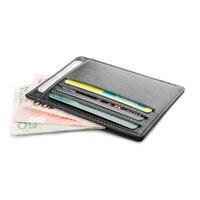 Gibo Auja Brand Genuine Leather Super Slim Card Holder Card Case Money Organizer Men Wallets Short