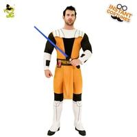 Hot Star Wars Obi-Wan Kenobi Sky Walker Traje Adulto de Los Hombres Trajes de Lucha Contra Disfraz de Halloween Party Masquerade Sistemas de la ropa