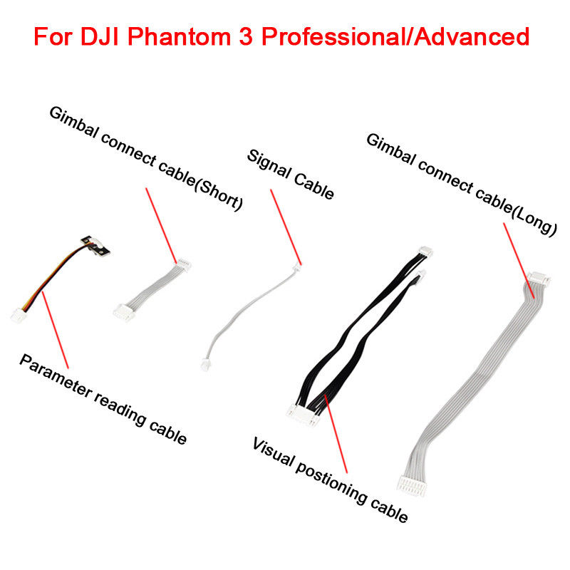 Connect Cable Set For DJI Phantom 3 Advanced/Professional 3Adv 3Pro Drone Gimbal Signal Cable Data Line PTZ Special Adapter Part