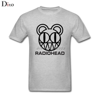Radiohead Band Logo Rock N Roll T-shirt Voor Mannen Awesome Korte Mouwen Crewneck Katoen Plus Size Familie T-shirts