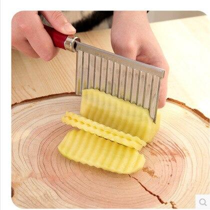 1 pz Chip Pasta di Carota Verdura Lama di Patate Piega Ondulato Cutter Affettatr