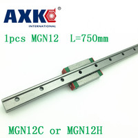 12mm Linear Guide Mgn12 L= 750mm Linear Rail Way + Mgn12c Or Mgn12h Long Linear Carriage For Cnc X Y Z Axis