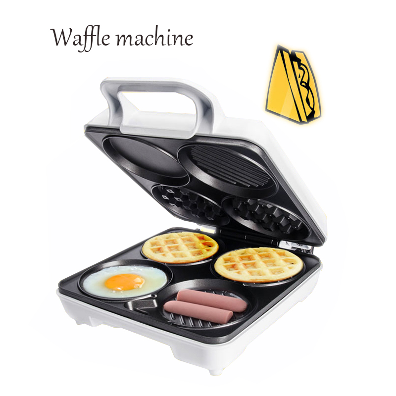 Multi-functional waffle machine breakfast machine four-hole muffin machine egg frying pan pancake machine SW-289HW innovative owl shape silicone egg frying mould frying pancake mold breakfast mould creative kitchen supplies for diy present