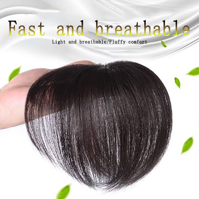 Top Piece Closure Toupee Straight Artificial Human Hair Material Hair Hand made Natural Black Topper Hairpiece Comingbuy