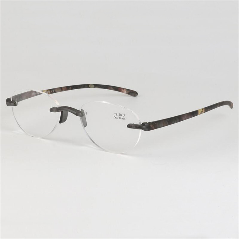 Women's Glasses Women's Reading Glasses Honey 2018 New Frameless Reading Glasses Fashion Simple Women Men Flexible Tr90 Eyewear Legs Presbyopia 1.0-3.5 R116