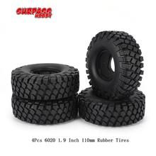 SURPASS HOBBY 6020 1.9 Inch 110mm Rubber Tires Tire with Metal Wheel Rim for 1/10 Traxxas TRX-4 SCX10 RC4D90 RC Crawler Car