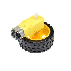 1 комплект мотора TT 130 с колесом, умный автомобильный робот, мотор-редуктор для ARDUINO, двигатель с медленной передачей постоянного тока, 1 шт. + 1 ...