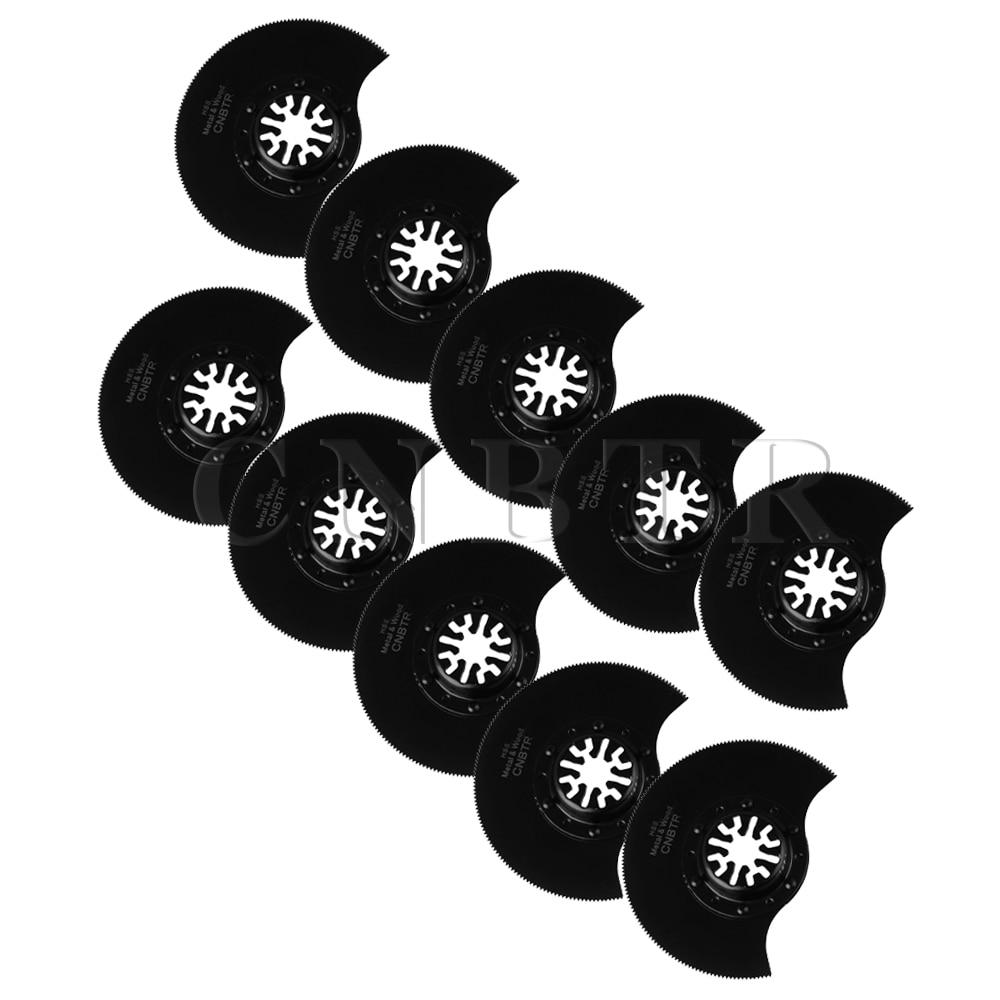 ФОТО CNBTR 10pcs 88mm Universal Countersunk Head M20 HSS Semicircle Saw Blades Black