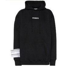New VETEMENTS Hoodies Men Women Sticker Stranger Things Streetwear Sweatshirt Embroidery Hoodie