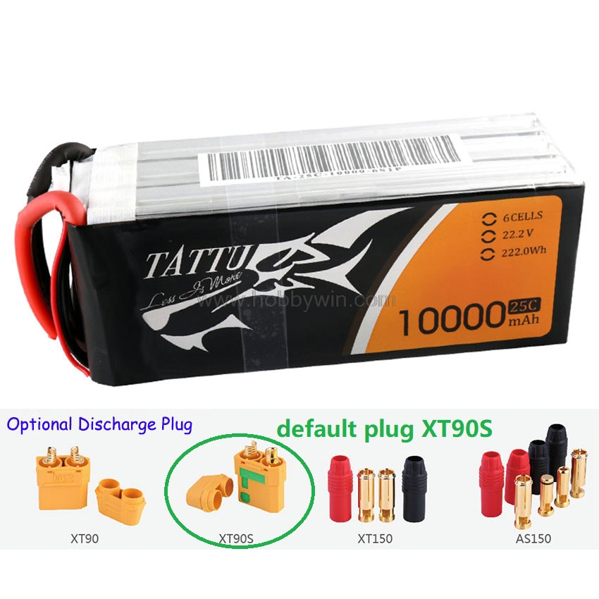 22.2V 6S 10000mAh 25C LiPO Battery XT90S plug for Big Load Multirotor FPV Drone Hexacopter Octocopter image