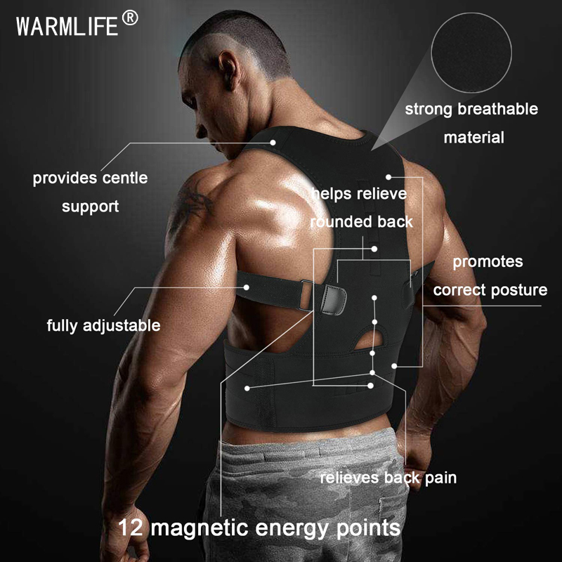 Image 3 - Magnetic Posture Corrector Therapy Brace Shoulder Back Support Belt for Men Women Braces & Supports Belt Shoulder Posture-in Braces & Supports from Beauty & Health