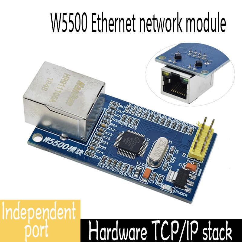 W5500 Ethernet Network Module Board TCP//IP 51//STM32 Microcontroller Program