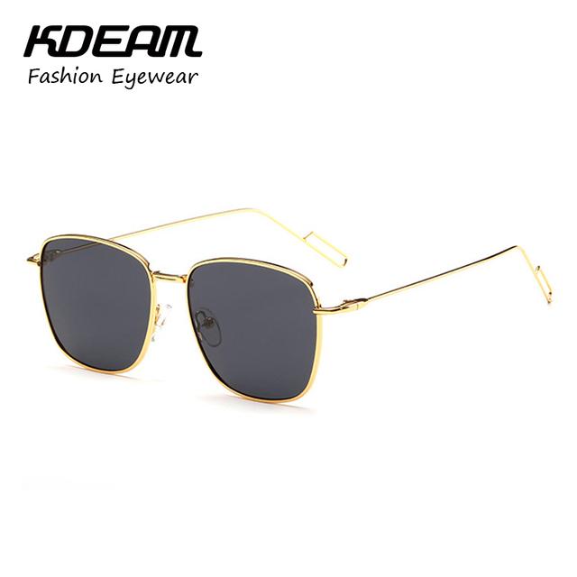 Kdeam Alloy Frame Polarized óculos De sol dos homens Anti reflexo mulheres óculos Polaroid com templo delgado luneta De Soleil KD8103J