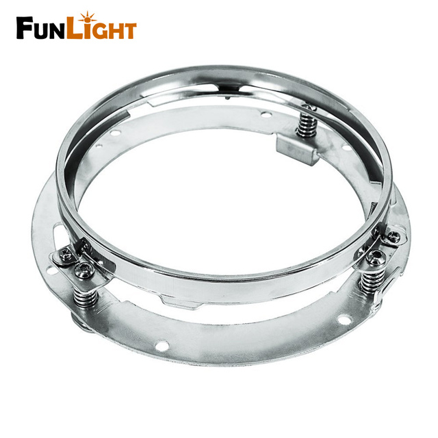 7 inch Round Mounting Bracket 7 inch led Headlight Bracket stainless steel for Harley Davidson Motorcycle