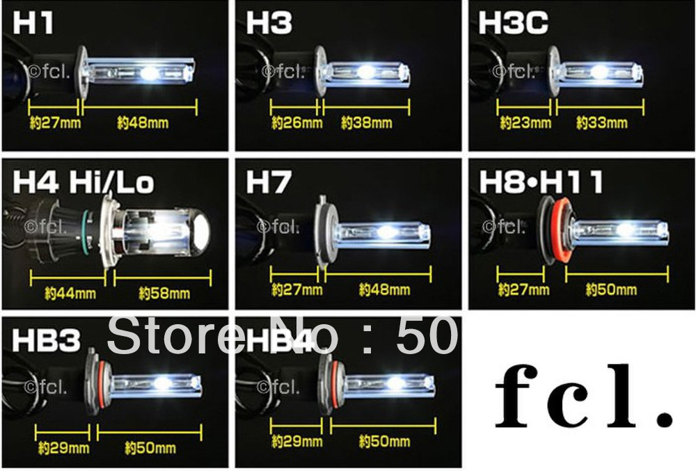 Car Headlight H4 P43t Hid Xenon Lamp 35w Lumen 2500 2800lm Color