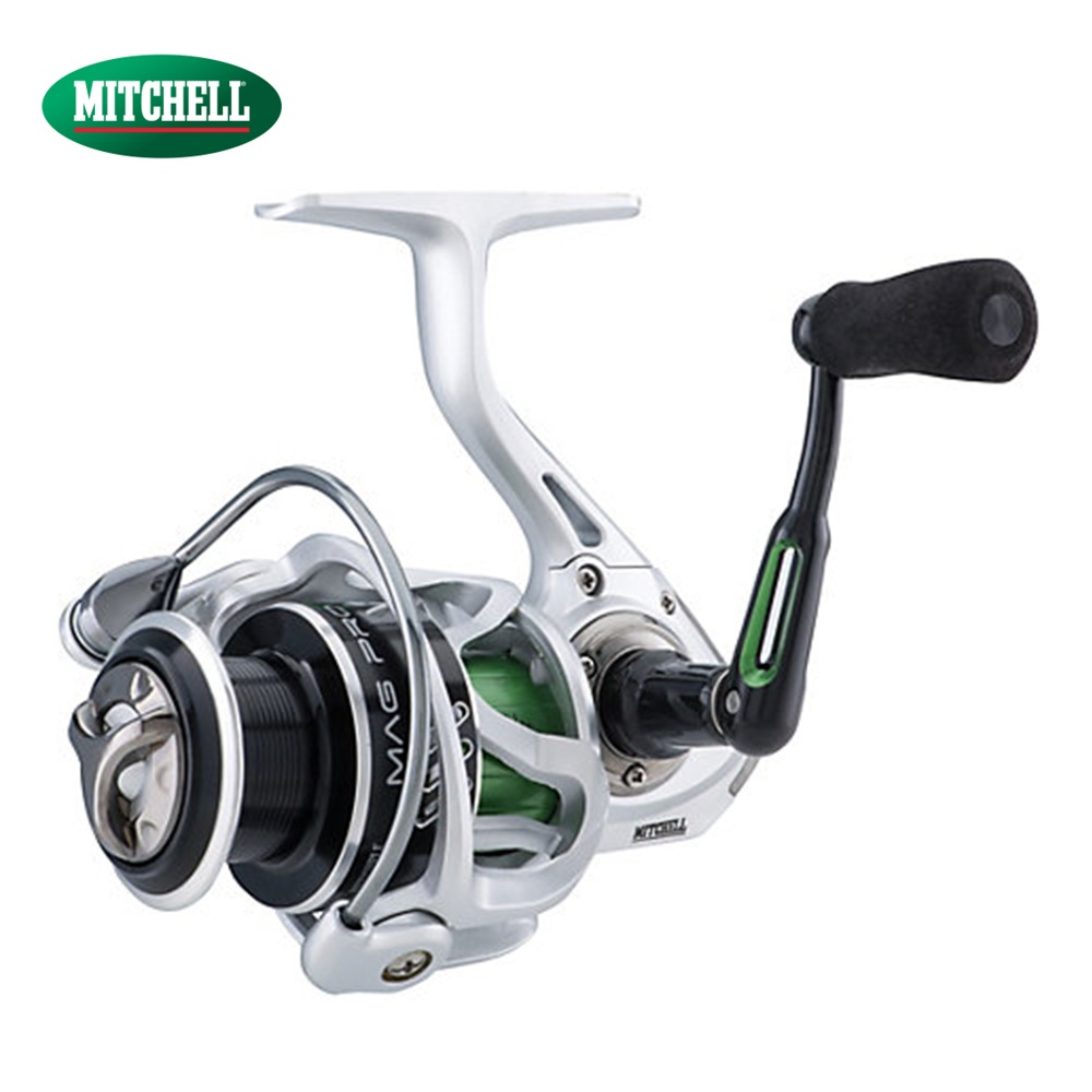 100% Original Mitchell Mag-Pro R Reel 1000 2000 3000 4000 Spinning Fishing Reel 10 BB 5.8:1 Anti-Reverse Fishing Gear ryobi 1000 2000 3000 4000 spinning reel bait casting reel 7 bearings