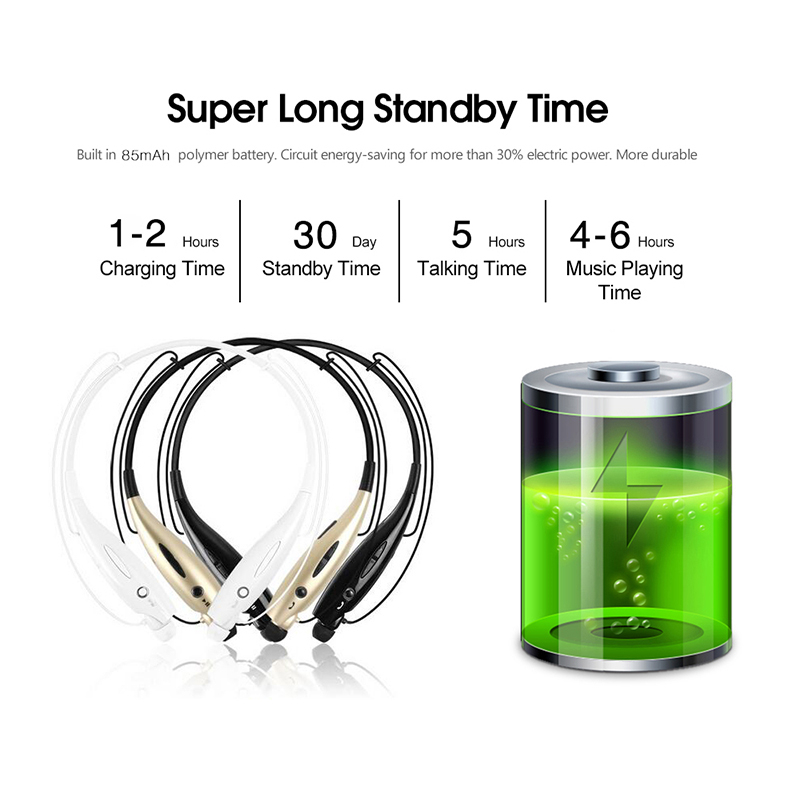 fone de ouvido Neckband Wireless Bluetooth earphone Bass Sports Bluetooth Headphones with Mic LED indicator for Apple Samsung