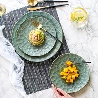 Japanese Creative Ceramic Tableware Plate Kitchen Dish Art Western Dish Steak Plate