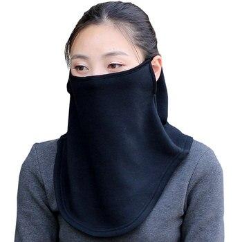 Женская Мужская зимняя уличная теплая дышащая Шея шарф маска для лица Снежная защита шарф-хомут лицо флисовая ткань Маска Шапочка