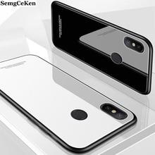 SemgCeKen luxury original glass mirror case for xiaomi redmi note 5 plus 5a prime pro 5pro 5plus silicone back coque phone cover