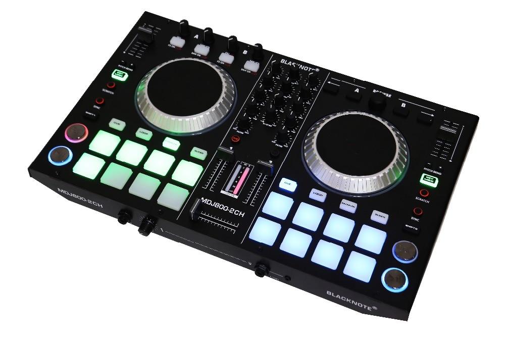 BLACKNOTE disco DJ controlador MIDI para jogar os jogadores que jogam os jogadores de console de mixagem de áudio de som mixer mesa de mezclas dj. DJ mixer