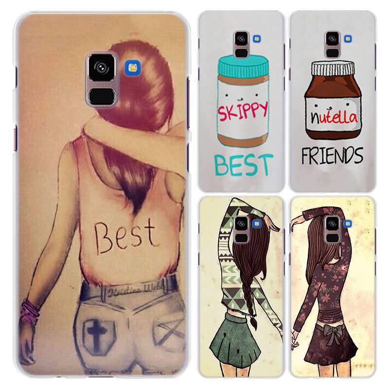 for Galaxy A8+ case different but best friends forever style hard ...