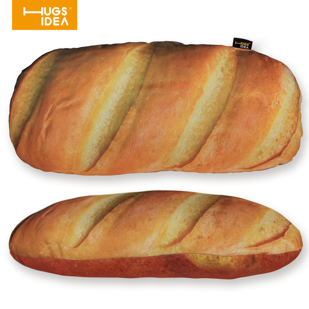 HUGSIDEA 3D Bread Shaped Cushion Pillow Home Decor Sofa Seat Back Throw Cushions for Children Inner Cotton Car Seat Pillows ...