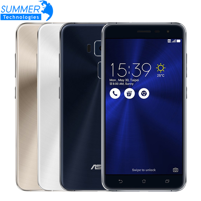 Original Asus ZenFone 3 ZE552KL Mobile Phone Qualcomm Octa Core 2.5D Gorilla Glass 4G RAM 64G ROM 1080P 5.5'' 16.0M Smartphone