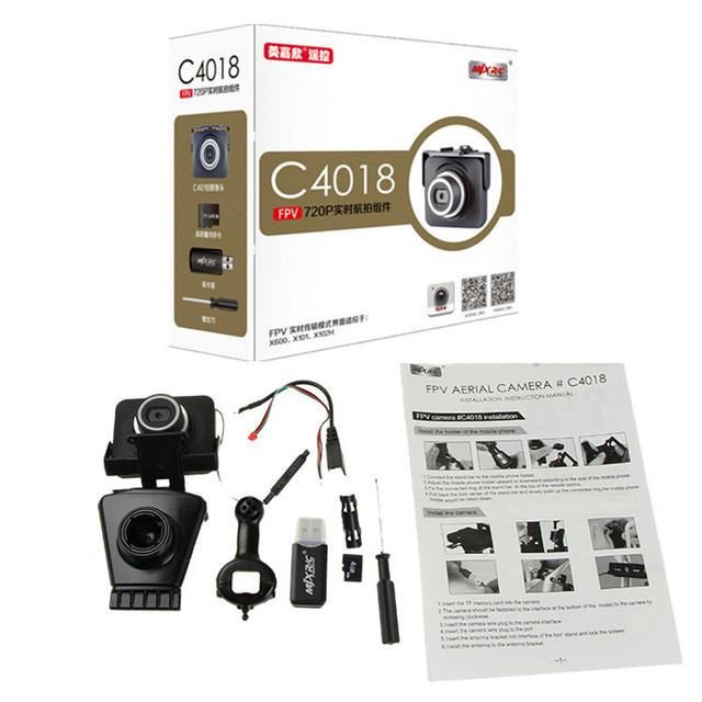 2016 nova C4015 C4018 Câmera FPV 720 P Tempo Real WI-FI Antena para MJX RC zangão helicóptero DO RC