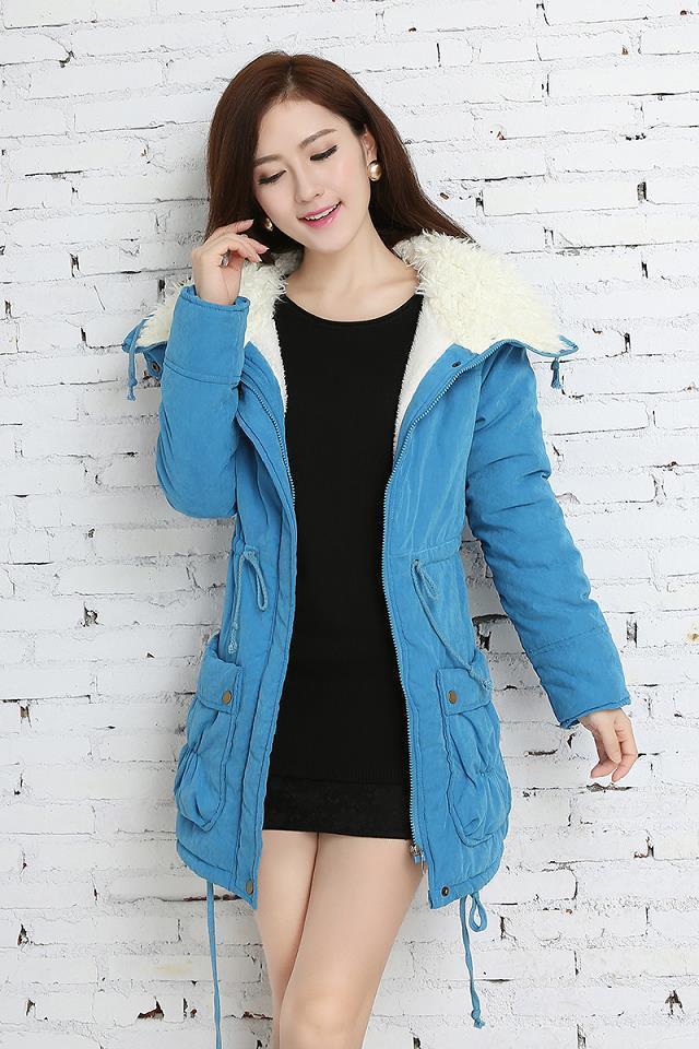 Casaco 2016 New Winter Jacket Women Plus Size Loose Big Pocket Wool Lamb Coat Casual Fashion