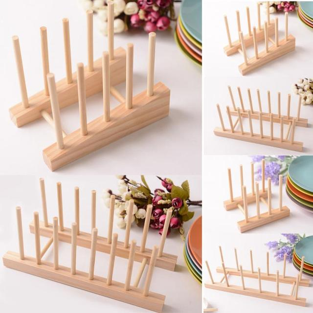 Simple Bookshelf Dish Rack Pots Wooden Plate Stand Wood Kitchen Cups Display Drainer Holder Condition 100 & Simple Bookshelf Dish Rack Pots Wooden Plate Stand Wood Kitchen Cups ...
