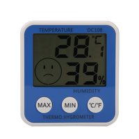 DC108 LCD Digital Home Weather Station Indoor Thermometer Hygrometer Electronic Temperature Humidity Meter Gauge FULI